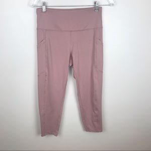 Balance Collection Pink High Rise Leggings Size M